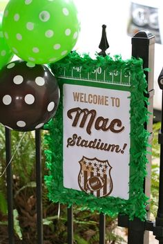 Birthday Party Ideas Photo 14 of 62 Catch My Party Football First Birthday, Sports Theme Birthday, First Birthday Parties, Birthday Party Themes, Boy Birthday, First Birthdays, Birthday Ideas, Kids Football Parties, Football Banquet