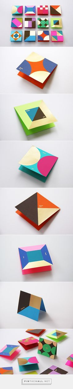 Graphic and print design for Astrobrights Thank You Card on Behance by Ken Lo, Hong Kong curated by Packaging Diva PD. Stunning card and stationery design.