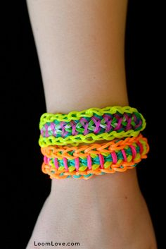 How to Make a Rainbow Loom Trapped Warrior (A two-sided bracelet!)