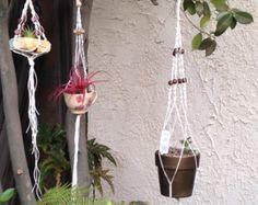MACRAME PLANT HANGER by BetteBluJean on Etsy