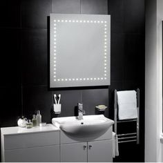 Milan LED Mirror - http://www.pebblegrey.co.uk/easter-sale/easter-sale-mirrors/products-illuminated-mirrors-milan.htm