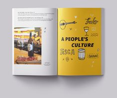 Lisbon Guide by Facebook on Behance Yearbook Pages, Yearbook Spreads, Yearbook Layouts, Magazine Layout Design, Book Design Layout, Design Design, Corporate Brochure Design, Brochure Layout, Lisbon Guide