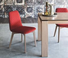 Sami Contemporary Dining Chair in Choice of Fabrics and Wood by Calligaris - See…