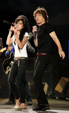 Amy Winehouse and Mick Jagger.