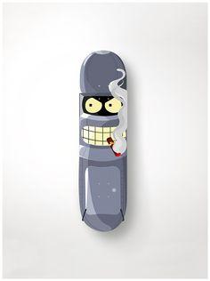 Bender skateboard deck by Sanja Cezek