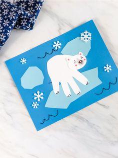 Polar Bear Handprint Craft - This handprint polar bear is a fun pre k winter craft idea for kids! Bear Valentines, Valentine Crafts For Kids, Winter Crafts For Kids, Paper Crafts For Kids, K Crafts, Bear Crafts, Animal Crafts, Preschool Crafts, Preschool Kindergarten