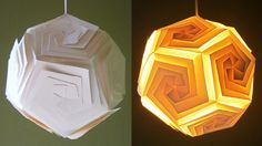 DIY lampshade (dodecahedron) - learn how to make a puzzle lamp by template - EzyCraft