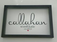 Personalized Family Name FRAMED Print Family Name Sign Family Name Art- Great Housewarming Gift