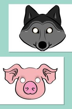 A set of 'Three Little Pigs' role-play masks. This resource was designed by Sonia Pihlajaniemi a freelance graphic designer and photographer. 3 Year Old Preschool, Pig Mask, Pig Costumes, Autumn Leaves Craft, Eyfs Activities, Traditional Tales, Kindergarten Prep, Little Red Hen, Charlie Bears