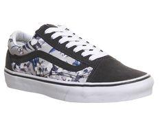 5f90639b4c97 Vans Old Skool Pewter White Blurred Floral - Unisex Sports