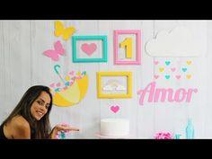 Como fazer um Guarda Chuva de papelão - Chuva de Amor - YouTube