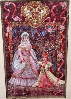 "Concept art of Anastasia, with her Grand Mama. Dowager Empress Maria. Supposed to be a painting hanging in one of the smaller banquet halls of the Catherine Palace. - Twentieth Century Fox's motion picture ""Anastasia"" (1997) (http://www.amazon.com/gp/customer-media/product-gallery/0067575307/ref=cm_ciu_pdp_images_all) #movie #film #book #screen_capture #movie_still #fantasy #princess #russia"