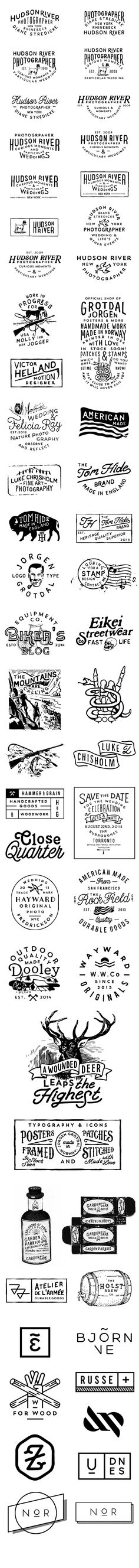 Hand drawn type and logo types and badges. Vintage look and feel. graphic design\\modern logo\\brand identity\\black and white Typography Letters, Graphic Design Typography, Typography Served, Web Design, Schrift Design, Typographie Inspiration, Typographie Logo, Logo Template, Hand Drawn Type