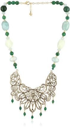 """Bronzed by Barse """"Lace"""" Statement Necklace"""