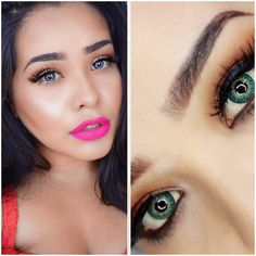 Geo twins colored contact lenses in Aqua and Green #eye #color #contacts Blue Colored Contacts, Green Colored Contacts http://store.flashyandbroke.com