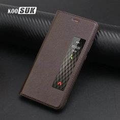 KOOSUK Genuine Leather Case For Huawei P10 Plus Cover Cap Smart Window Flip Book Style Phone Case For Huawei Ascend P10 Skin Set