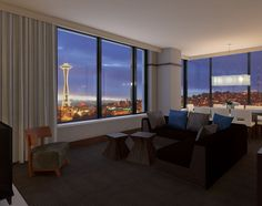 Soak in inspiring views of Seattle's South Lake Union and the city centre outside your window. Our hotel 's rooms and suites feature stylish interiors and luxurious amenities to help you feel right at ease.