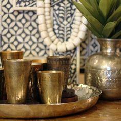 Village Stores -Brass Lassi Cups