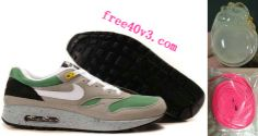 #Mens #Nike Air Max 1 Classic Green Barely Grey Medium Grey Shoes  #great