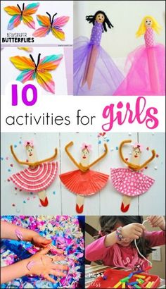 Some days girls just want to be super girly. Then they will enjoy these 10 Fun A… Some days girls just want to be super girly. Then they will enjoy these 10 Fun Activities for Girls. Creative Crafts, Easy Crafts, Diy And Crafts, Homemade Crafts, Paper Crafts, Craft Activities For Kids, Babysitting Fun, Crafts For Teens To Make, Recycling