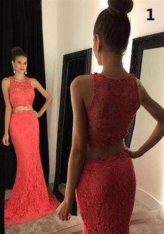 e84740c70a Two Pieces Prom Dress Prom Dresses Evening Party Gown Formal Wear on  Storenvy Elegant Prom Dresses