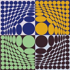 Victor Vasarely, Vega Aix, Limited Edition, Serigraph on Paper at Doubletake Gallery Victor Vasarely, Op Art, Claude Nicolas Ledoux, Josef Albers, Art Graphique, Cool Posters, Geometric Art, Famous Artists, Optical Illusions