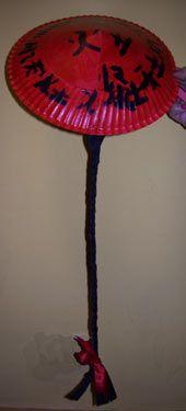 chapeau chinois à partir d'une assiette de carton