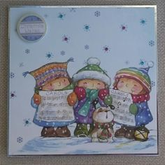 Handmade 6 x 6 Christmas Card by BavsCrafts on Etsy