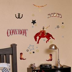 DCWV Cowboy Rodeo Wall Stickers