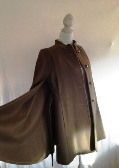 European-style belted wool cape #vintage #cape #fall winter