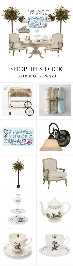 """""""Down the Rabbit Hole"""" by jdee77 ❤ liked on Polyvore featuring interior, interiors, interior design, home, home decor, interior decorating, Golden Lighting and Mrs Moore's Vintage Store"""