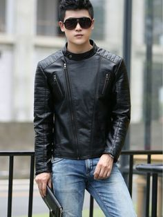 c97c676eeeb Men s leather clothing outerwear Spring motorcycle leather jacket men  leather. Leather JeansPu ...