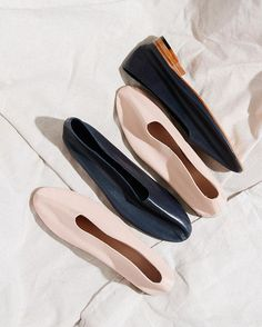 The Martiniano Glove flats: now available in Navy and Makeup #flats #navy #pink…