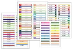 Free printable labels gallery from World Label.   There are wedding, kids book, holiday, organizational etc. labels.