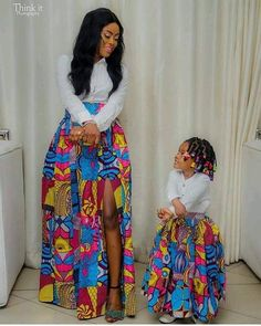 African mommy and me skirts/ African women clothing / African twinning skirts/ African fashion skirt This listing features one adult skirt and one toddler skirt. Adult skirt: Two deep pockets. Ankara Styles For Kids, African Dresses For Kids, Latest African Fashion Dresses, African Print Dresses, African Print Fashion, Ankara Fashion, African Clothes, Africa Fashion, African Prints