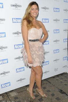 Good times: Made In Chelsea star Cheska Hull made an appearance at the Now Christmas party...