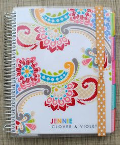 Organization :: Erin Condren Planners - I love the pattern on this one - maybe for next year's planner?