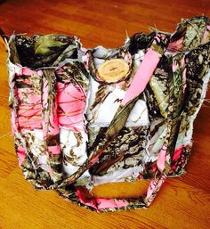 12x12 Camo Rag Style Quilt Purse by SouthernSweetTampa on Etsy, $18.00