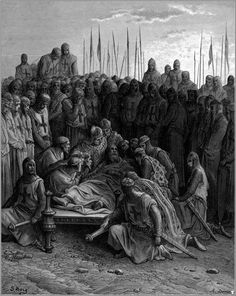 Death of Baldwin, Latin King of Jerusalem - Gustave Dore