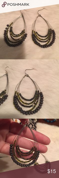 NWOT! Super cute beaded earrings! NWOT! Super cute beaded earrings! Jewelry Earrings