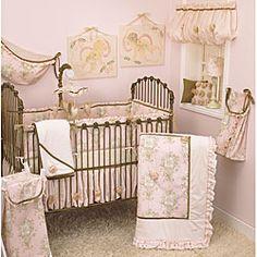 6Pc Baby Crib Bedding Set Bumper Cartoon Baby Bedding King Princess Crown Yellow