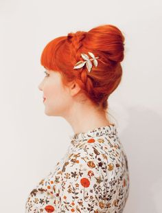 No tease braided bouffant (click-through for tutorial) from A Beautiful Mess
