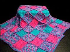Patchwork Crochet Baby Afghan by CaroModello on Etsy