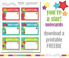 FREE Back to School Printable {You're A Star!}
