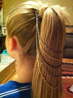 Belle Noel inspired hair chain DIY