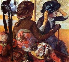 Mary Cassatt & Edgar Degas spent a lot of time together, both in & out of the studio. She would take Degas along, when she went shopping for...