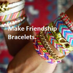 DIY Friendship Bracelet tutorial via Honestly WTF Do It Yourself Jewelry, Do It Yourself Fashion, Diy Jewelry, Handmade Jewelry, Jewelry Making, Making Bracelets, Homemade Bracelets, Bracelets Crafts, Thread Bracelets