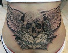 Tattoos Skulls Lower Back | Highest Quality Tattoo Art Ideas on ksabih.com