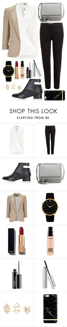 """Office,buisness"" by sowka-niebieska ❤ liked on Polyvore featuring Miss Selfridge, Etro, Topshop, Givenchy, Wallis, Larsson & Jennings, Chanel, MAC Cosmetics and Charlotte Russe"