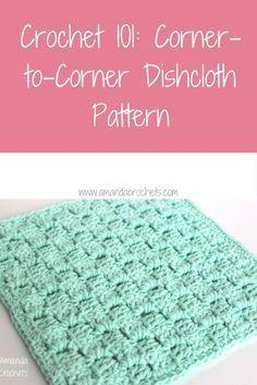 corner-to-corner dishcloth pattern ~ FREE - CROCHET
